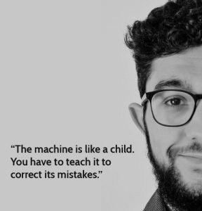Meet Mohamed. Machine Translation Expert/ Diaper Changing Pro.