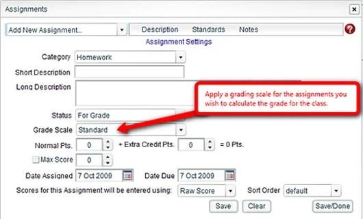 Teacher Module Assignments Box