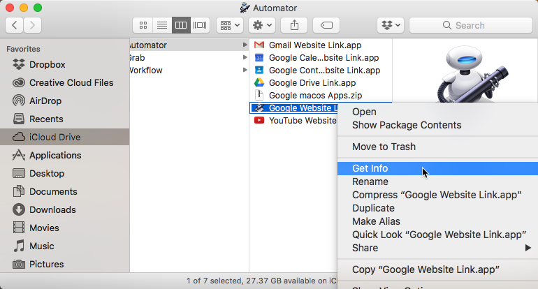How to add Google Apps icons to your Apple macOS Dock | EVSC