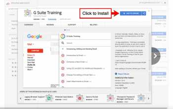 G Suite Training Extension on Chrome Store