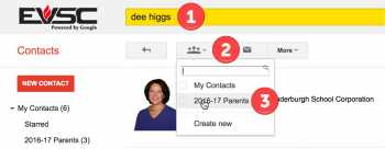Google Contact Groups Using Search