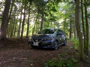 EVS Kawartha - Nissan Leaf in hiding