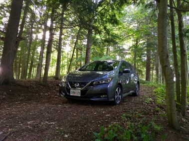 EVS Kawartha - Nissan Leaf in hiding