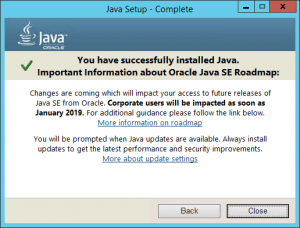 Java 8 Update 171 January 2019 Roadmap Warning