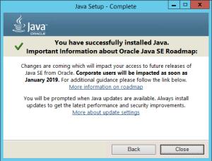 Java 8 Update 171 January 2019 Roadmap Warning