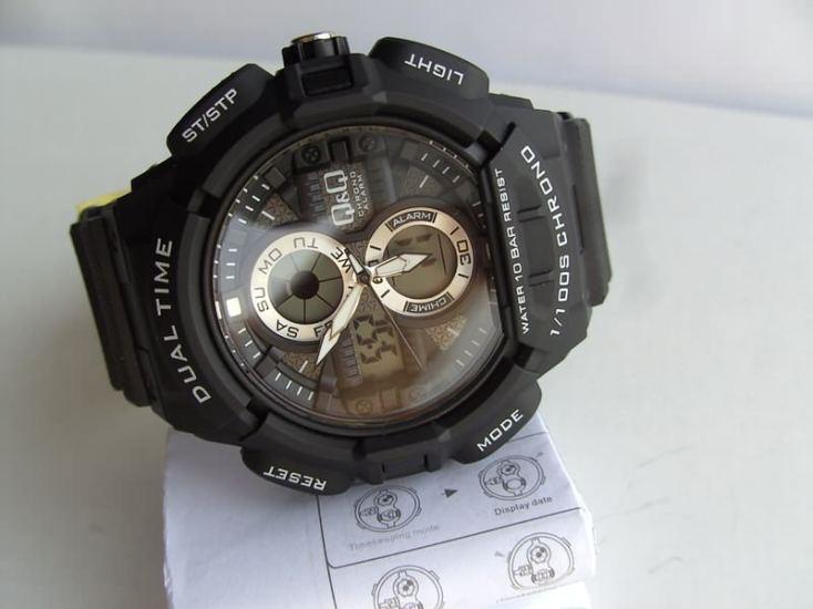 евтин мъжки часовник q&q