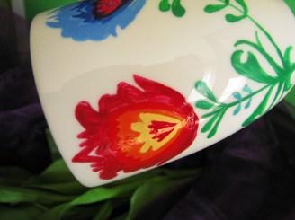 ręcznie malowany kubek łowicki