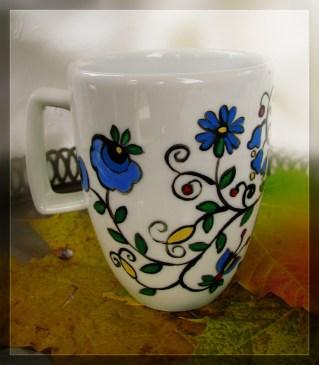 motyw kaszubski kubek malowany