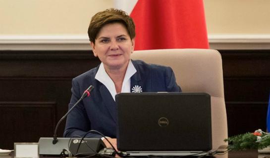 Pani premier Beata Szydło podczas wystąpienia w Parlamencie Europejskim 19 stycznia 2016