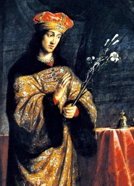Daniel Schultz - Św. Kazimierz (obraz z 1670 r. w kościele św. Kazimierza w Krakowie)