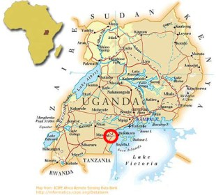 Map of Project Location in Uganda