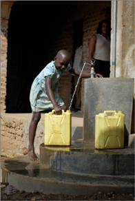 Child Filling up with Groundwater