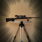 Prairie Dog Rifle Rest   ( None powder coated )
