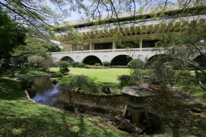 Koi Fish Pond, Japanese Garden, Imin Conference Center, East-West Center