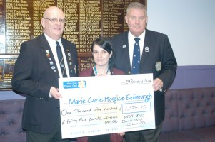 Marie Curie Presentation of £1554.15