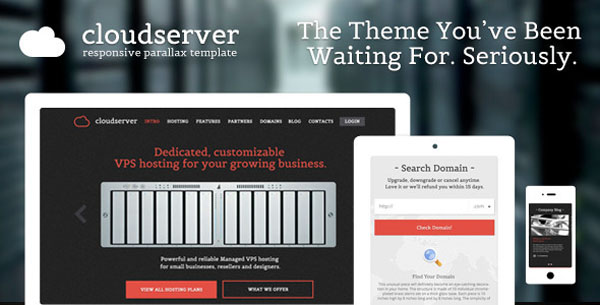 CloudServer - One Page Responsive Hosting Template