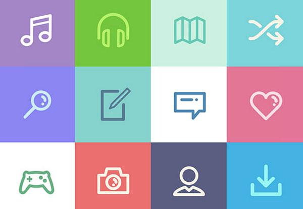 84 Metro UI icons