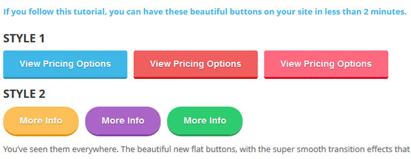 How to Make Awesome Flat Buttons