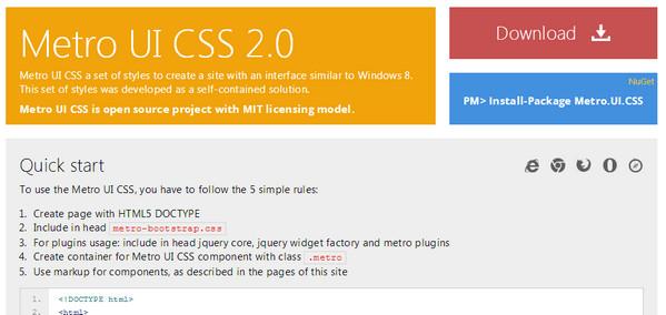 Metro UI CSS 2