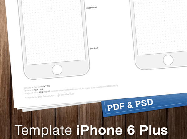 Paper based Mediums for Designers  Free PDF Templates and Wireframes     iPhone 6 Wireframes by Oleg Sukhorukov