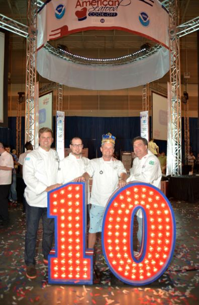 Chef Cory Bahr and Ewell Smith celebrate 10 years of the Great American Seafood Cook Off