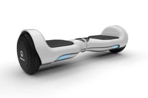 E-Balance-Hoverboard H1 weiß Isometrische Darstellung mit LED