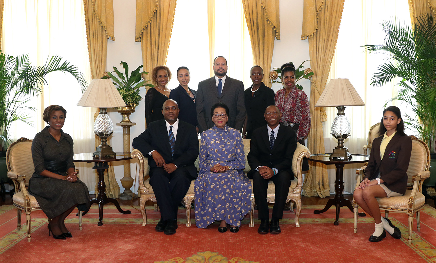 Primary School Student of the Year Foundation makes courtesy call on the Governor General