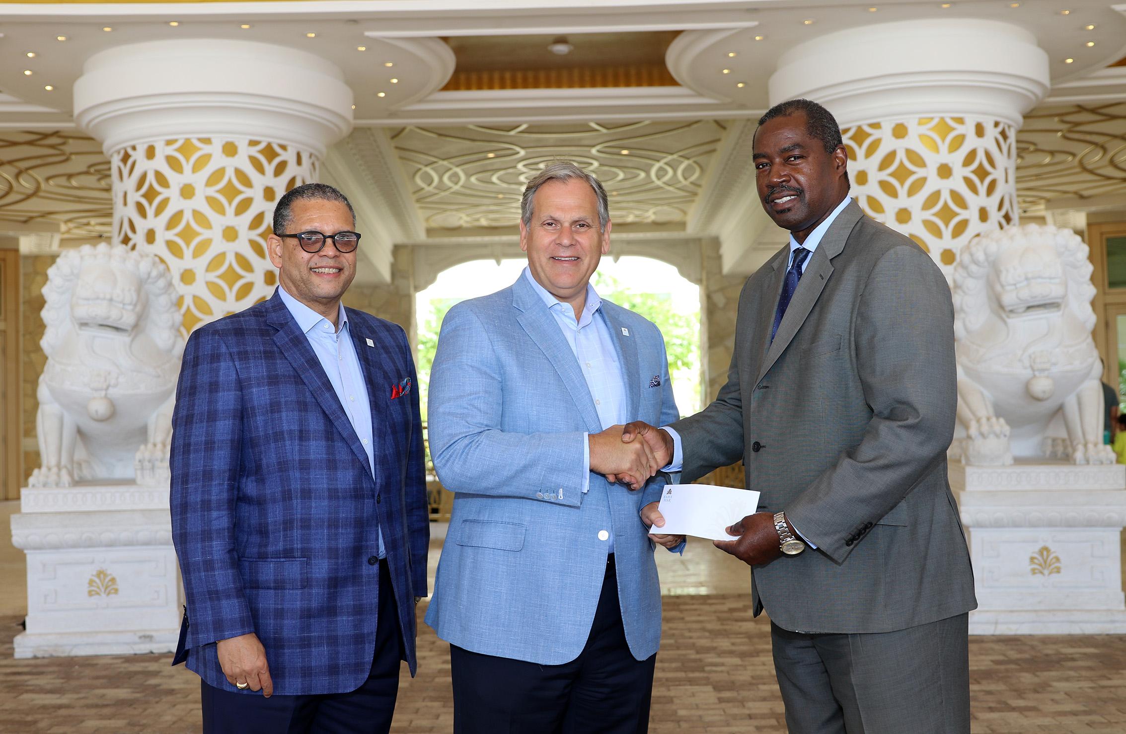 Baha Mar donates $22K to NEMA