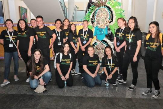 California high school students get Junkanoo tutorial