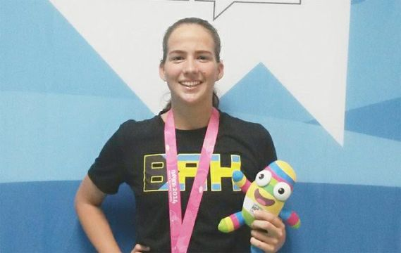 Evans wins two golds at CAC