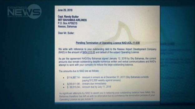 Sky Bahamas refutes eviction rumors