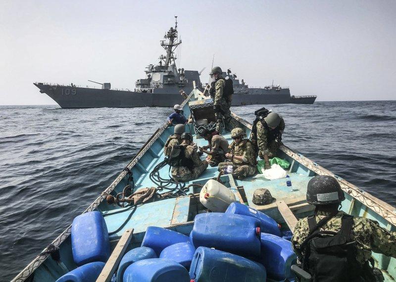 AP: US Navy seizes 1,000 smuggled rifles off war-torn Yemen