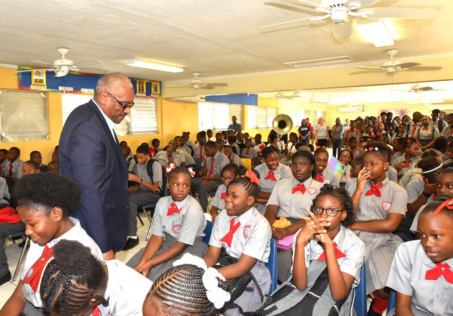 PM visits Family Island schools on first day