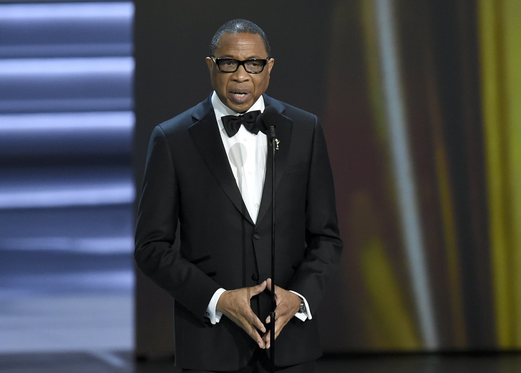 TV academy's first black chair to step down after 2 years