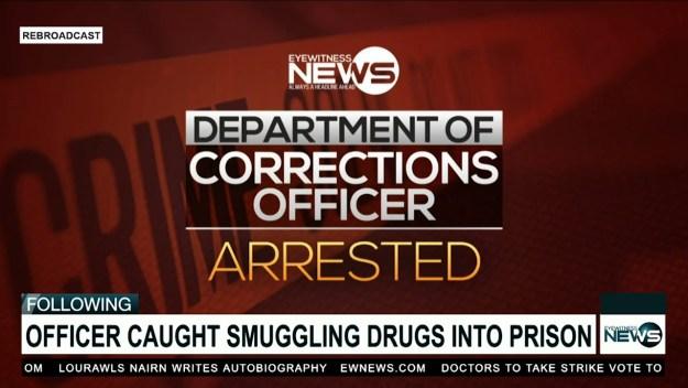 Corrections officer in custody for drug possession