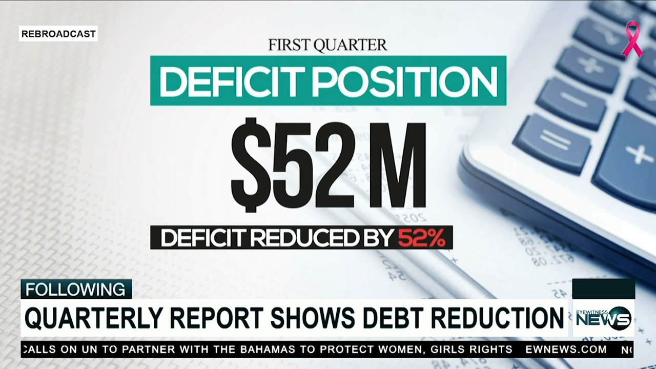 Overall deficit reduced by 52%, first quarter fiscal report reveals
