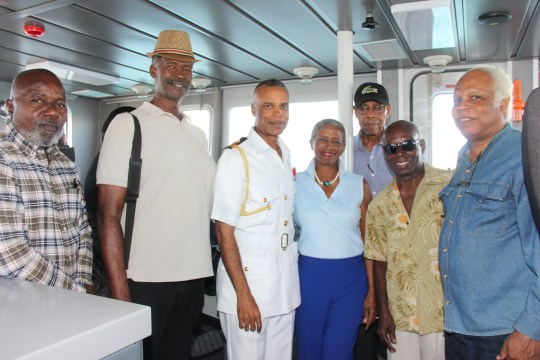 Sporting Hall of Famers visit RBDF base