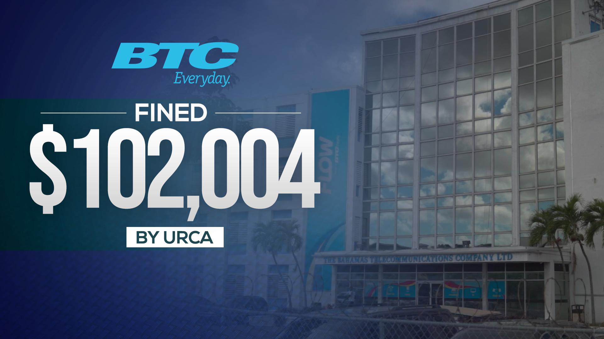 BTC fined $102,004 by URCA
