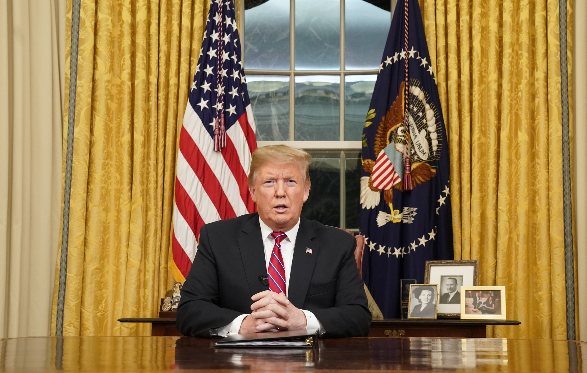 Trump pleads on TV for wall money; Dems say he 'stokes fear'