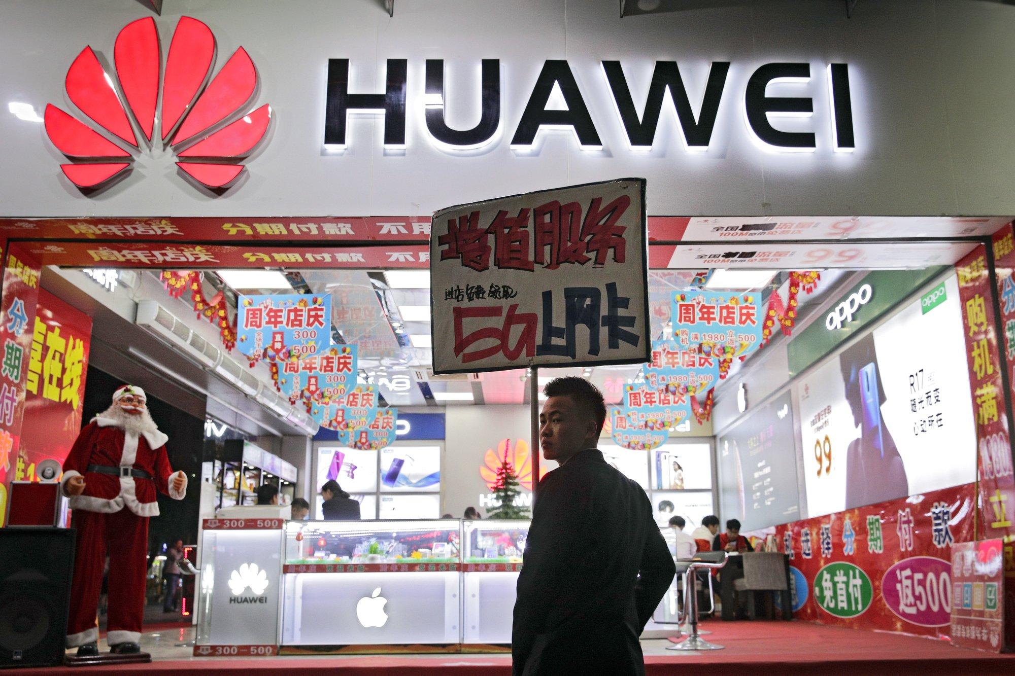 China-US row over tech giant Huawei overshadows trade talks