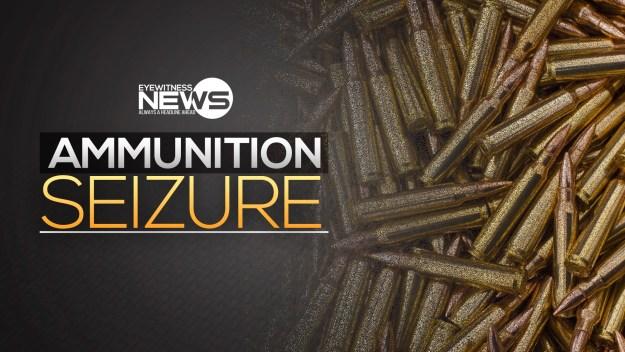 Illegal ammunition seized, adult male in custody