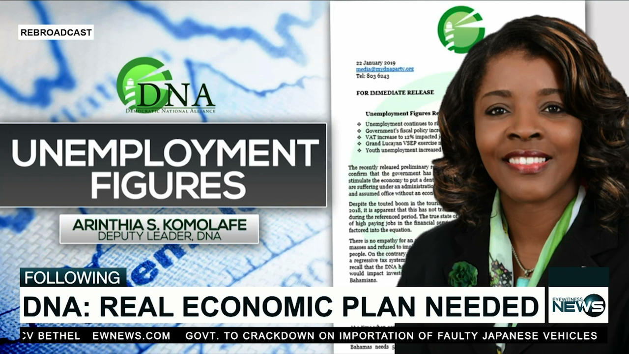 DNA not impressed with unemployment stats