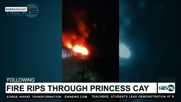 Fire rips through Princess Cay