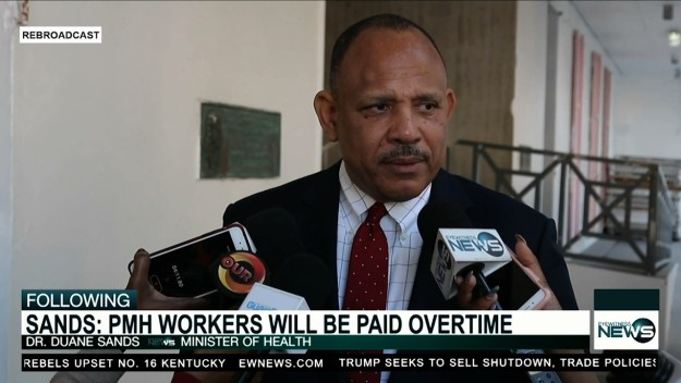 Sands assures PMH employees will receive December overtime pay
