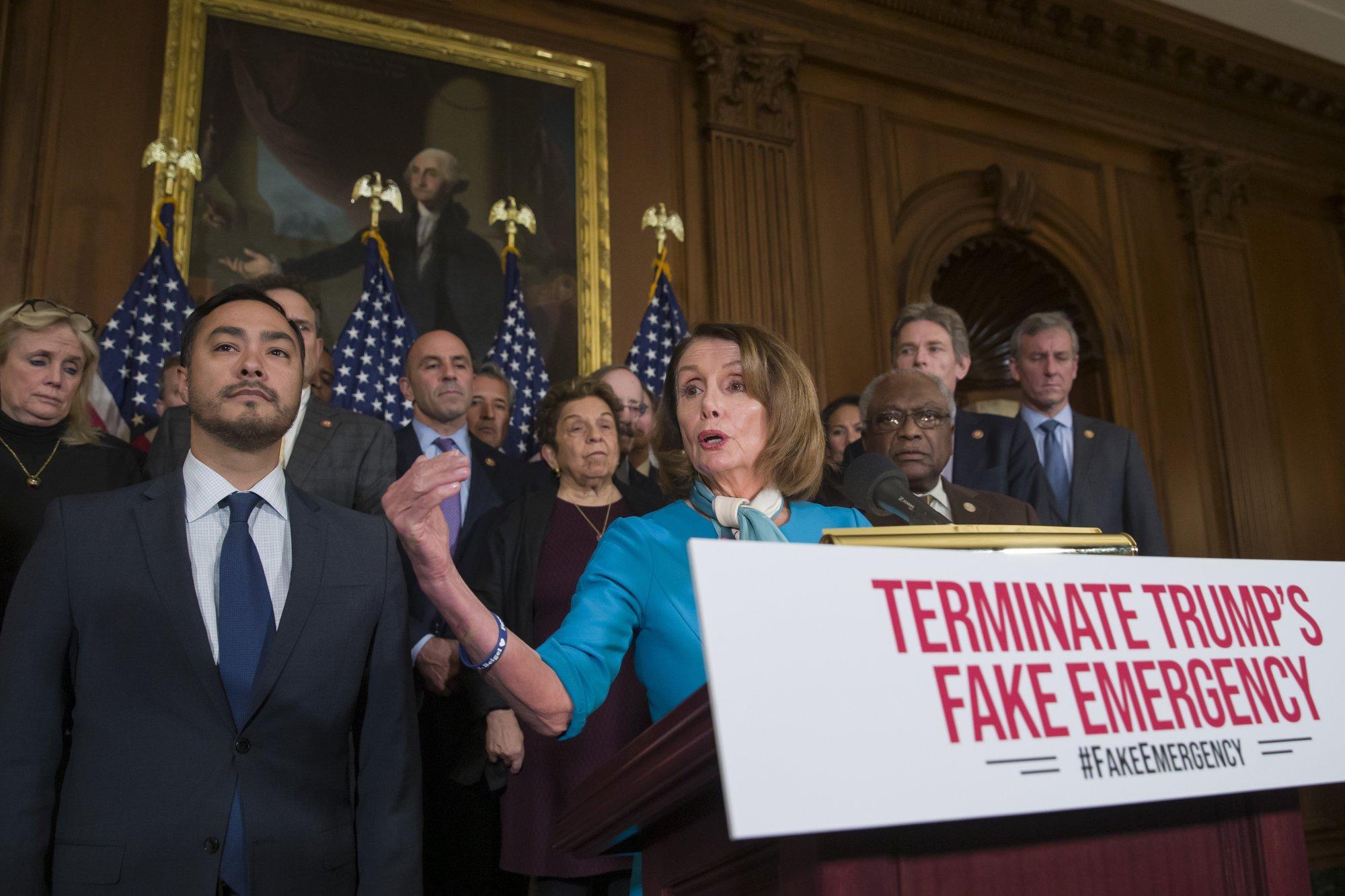 House OKs Democrats' bill blocking Trump emergency on wall