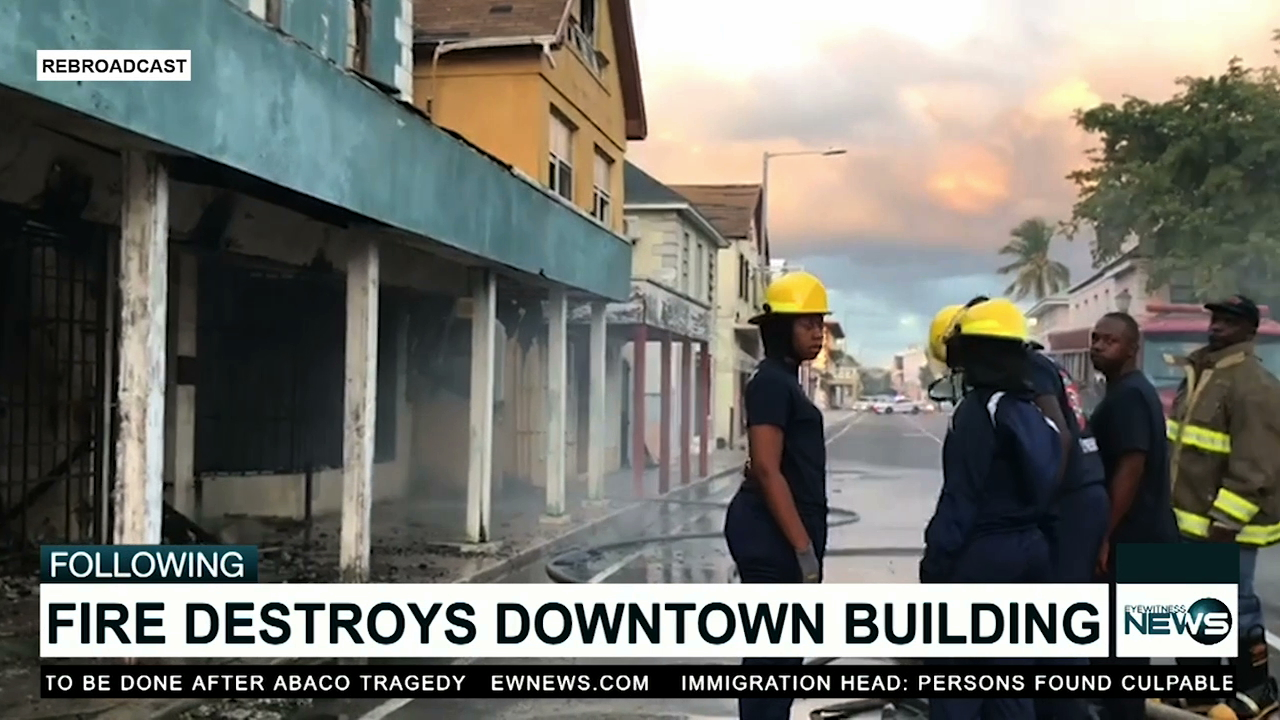 Fire destroys old Wong's food store on Bay St.