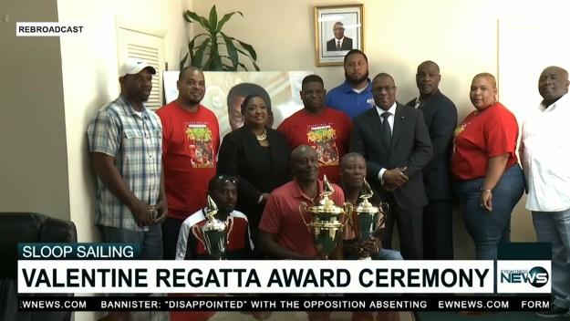St. Valentine Regatta skippers receive their awards