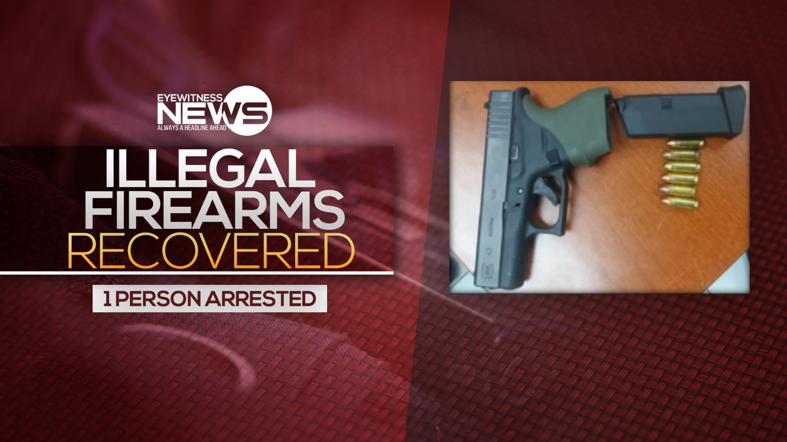 Police recover illegal firearms in separate incidents