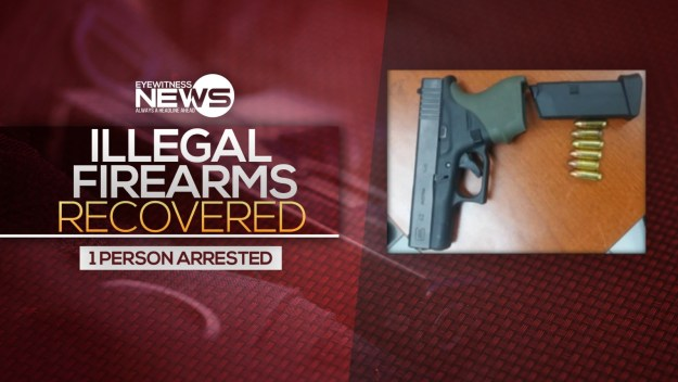 Illegal firearms recovered, one arrested