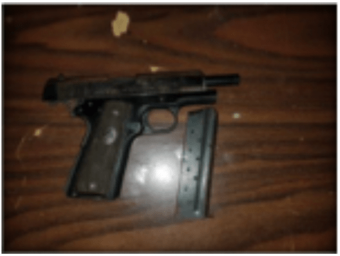 Police seize illegal firearm in abandoned building